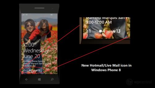 微软windows phone 8全新锁屏界面曝光图片
