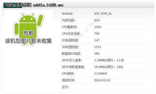 全面出击  HTC三款安卓智能新机遭泄露