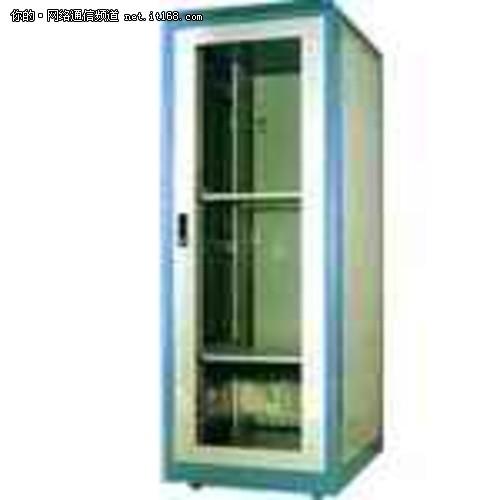 金盾 ja6942/金盾Ja6618(18U)机柜配标准的带锁钢质安全钢化玻璃前门,快速...