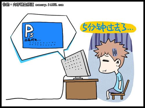 慢吞吞变型记 威刚SX900情景漫画欣赏