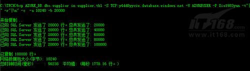 SQL Azure数据恢复TPCH测试