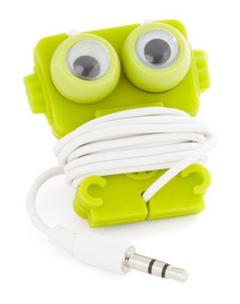 大眼睛耳机也能卖萌 个性耳机缠绕线夹