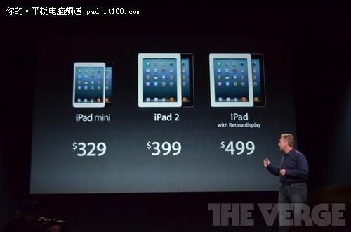 苹果新品颠覆价格 iPad mini起价2055元