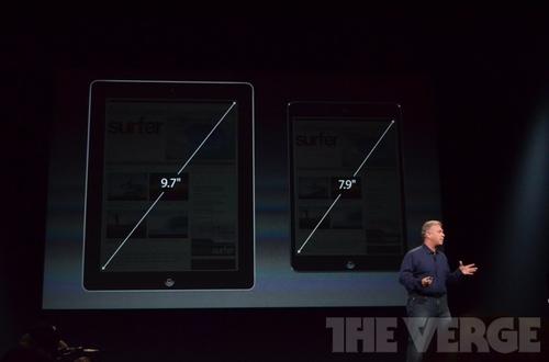 苹果发布7.9英寸iPad mini 更薄更轻