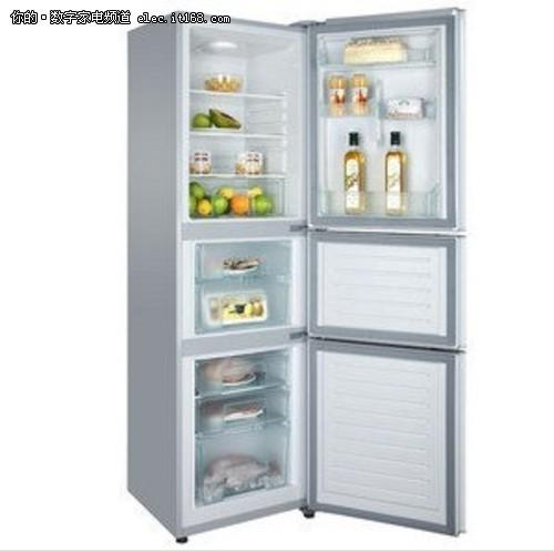 超值1699元 海尔三门206升软冷冻冰箱