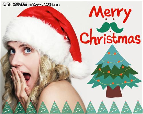 圣诞欢乐秀 美图秀秀圣诞主题素材上线