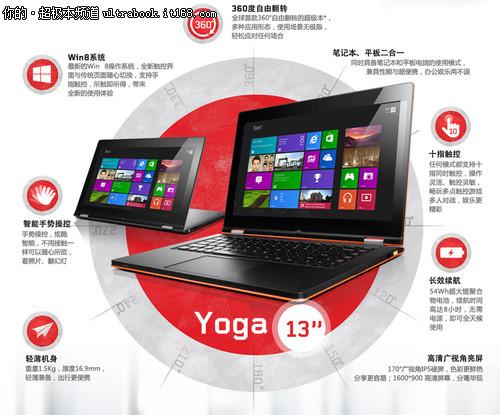 全民Win8+大屏触控 Yoga13产品特点解析