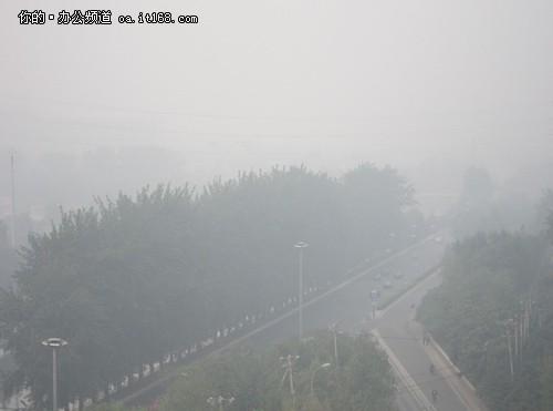 手绘空气污染地球