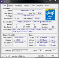 全新四代酷睿 Intel Core i7 4770K评测