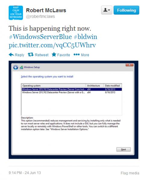微软推出Windows Server预览版下载