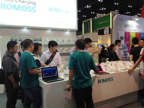 罗马仕ROMOSS高调亮相2013香港秋季电子产品展