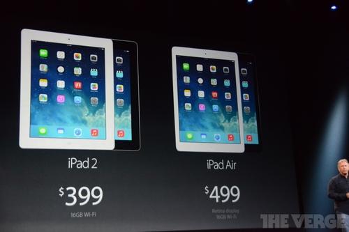iPad Air和retina mini!苹果双平板新品