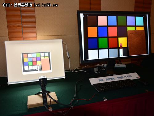 32寸4K+十点触控 夏普新品显示器亮相