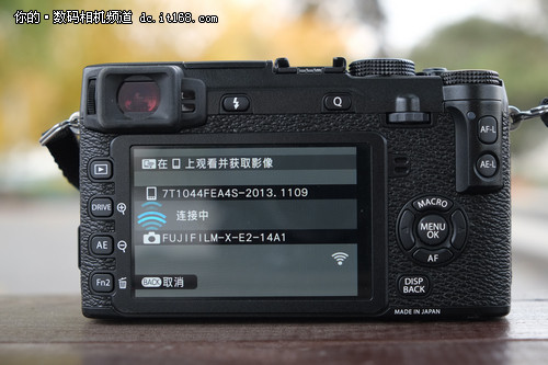 富士X-E2新增功能:Wi-Fi与创意滤镜