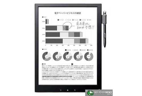 索尼将推出最轻薄13.3寸电子纸