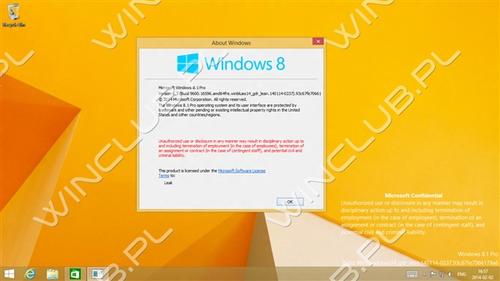 微软Windows 8.1 Update 1预览版泄露