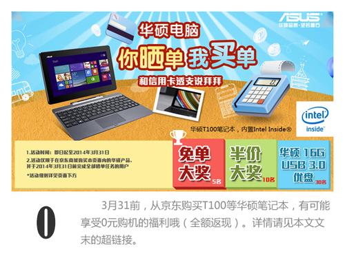 四核凌动 华硕T100平板笔记本数字解读