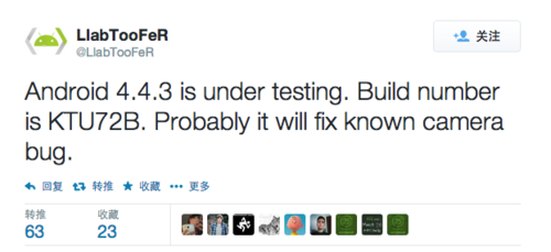 传:谷歌正在测试Android 4.4.3 KitKat