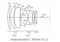 佳能公布新85mm f/1.2等4款新镜头专利