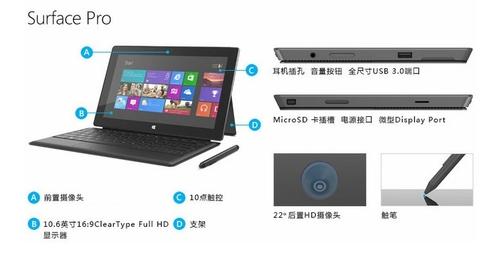 微软Surface Pro 64G平板 京东仅3688元