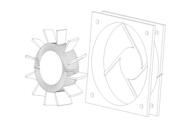 雅图投影机《排气风扇》专利技术016