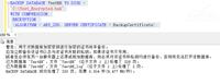 SQL Server 2014新特性:原生备份加密