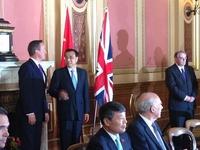 雅图董事长谢敬随国家总理李克强访英