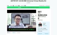 蚁视ANTVR KIT众筹结束 募款26万美元