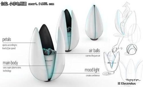概念小家电:Lotus莲花智能空气净化器