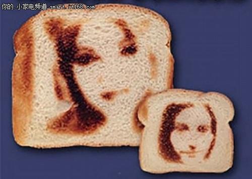 面包机将自拍照印面包上开创吐司新世界