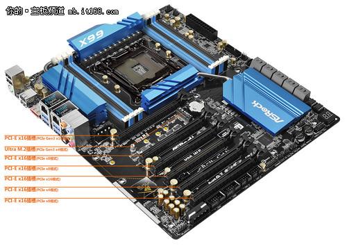 6条PCIE插槽 华擎推工作站级X99 WS主板