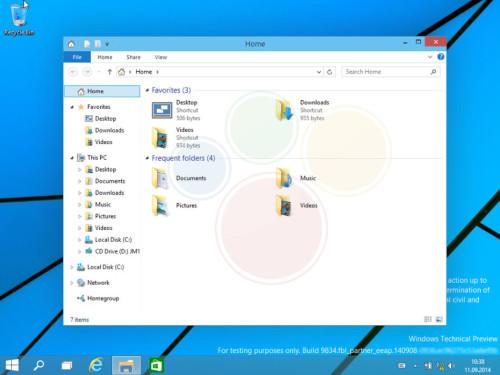 Windows 9界面曝光:揭示未来桌面方向