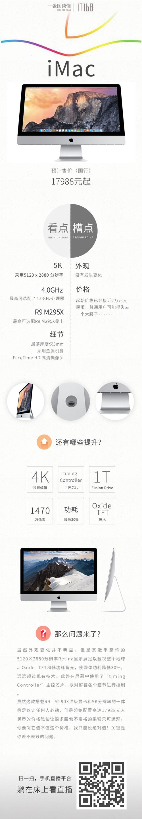 一张图带你读懂全新苹果iMac、Mac mini