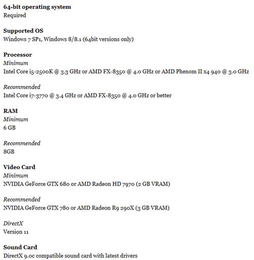 要求还真高 刺客信条最低要GTX680显卡