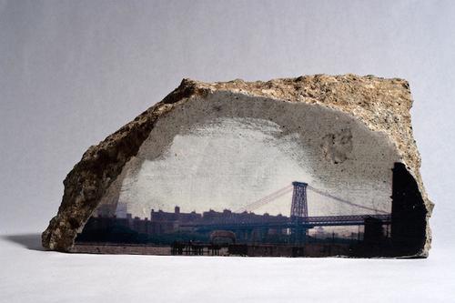 另类摄影师用水泥砖块打印照片