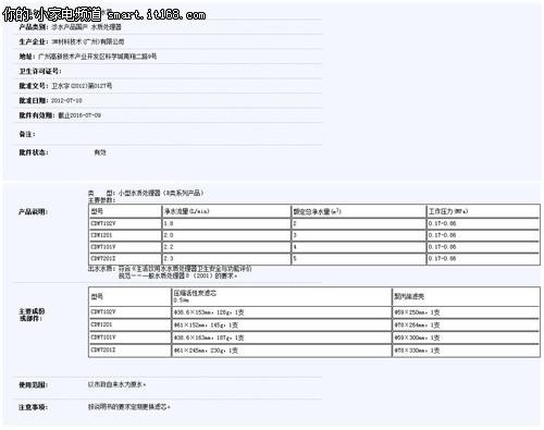 3M CDW7101V型净水器评测-包装&技术篇