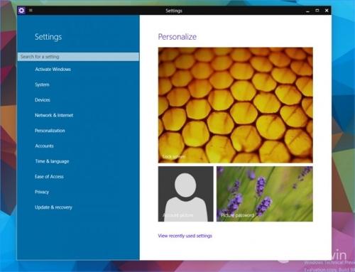 9888版Windows 10:设置页整合搜索功能