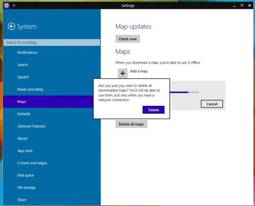 Windows 10 Build 9888现桌面版离线地图功能