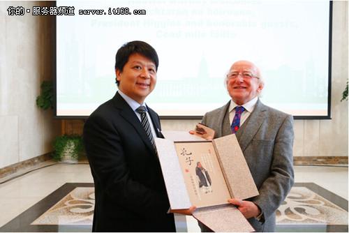 华为轮值CEO郭平在京会见爱尔兰总统