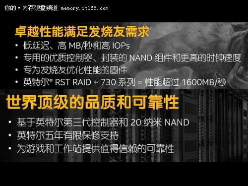 卓越性能 英特尔730系列240G SSD售999