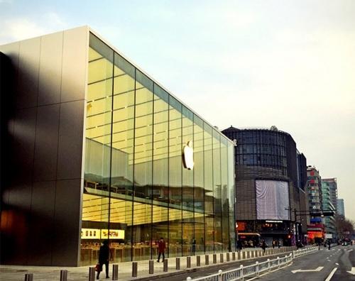 西湖苹果店初露真容 不愧是亚洲最大啊