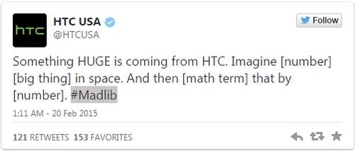 传HTC将在MWC2015上发布新款通话平板