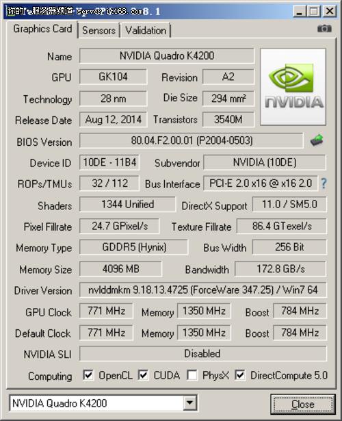 中端新贵 Quadro K4200专业级显卡评测