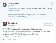Windows确认Windows 10仅第一年免费
