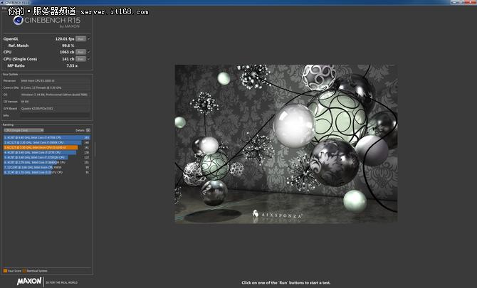 CineBench R11.5性能测试