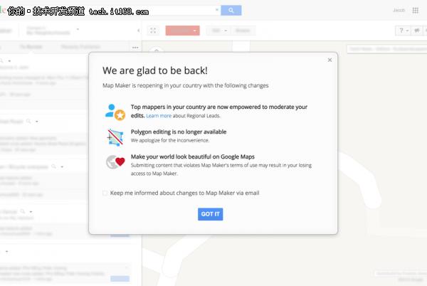 谷歌重新向50多个国家开放地图制作工具