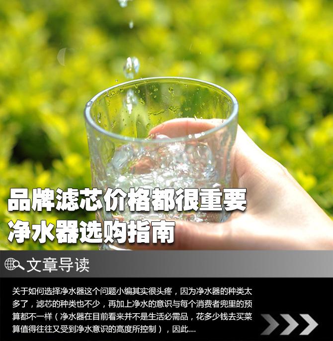 品牌滤芯价格都很重要 净水器选购指南
