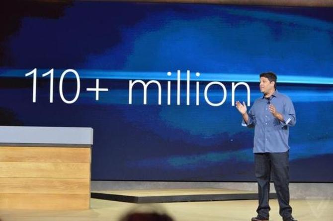 很轻松 微软证实1.1亿部设备安装Win10