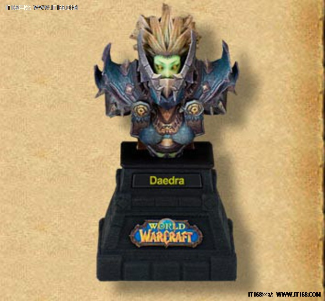 WOW人物走出屏幕 3D打印《魔兽世界》