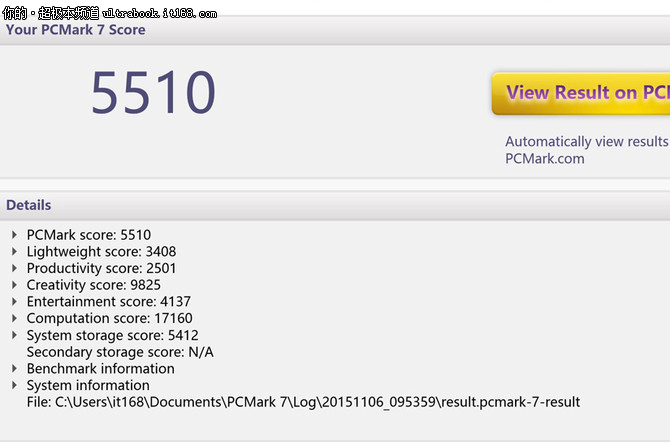 YOGA900的性能基准测试、编辑总结